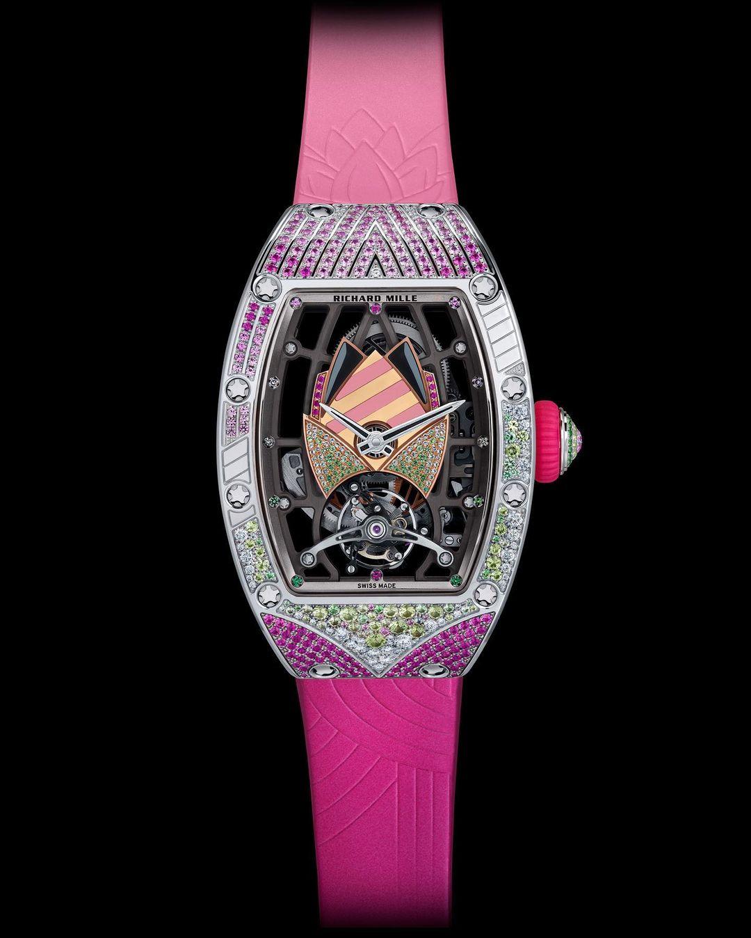 montres-femme Richard Mille 71-02 Automatic Tourbillon Talisman : Un nouveau modèle aux mille couleurs